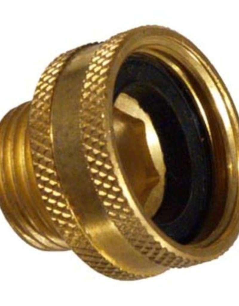 "Brass Hose Adapter - Female Garden Hose Thread x 1/2"" MPT"