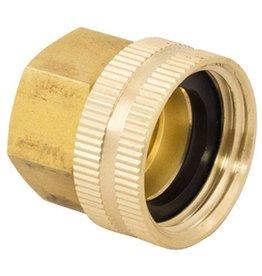 Brass Hose Adapter - Female Garden Hose x 1/2'' FPT Swivel