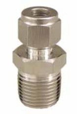 """Stainless Fitting - 3/8"""" Compression x 1/2"""" MPT"""