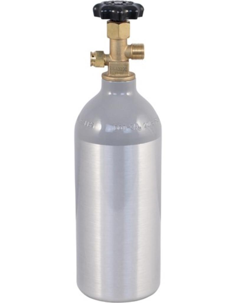 Aluminum 2.5# CO2 Tank Cylinder with Valve Installed - New