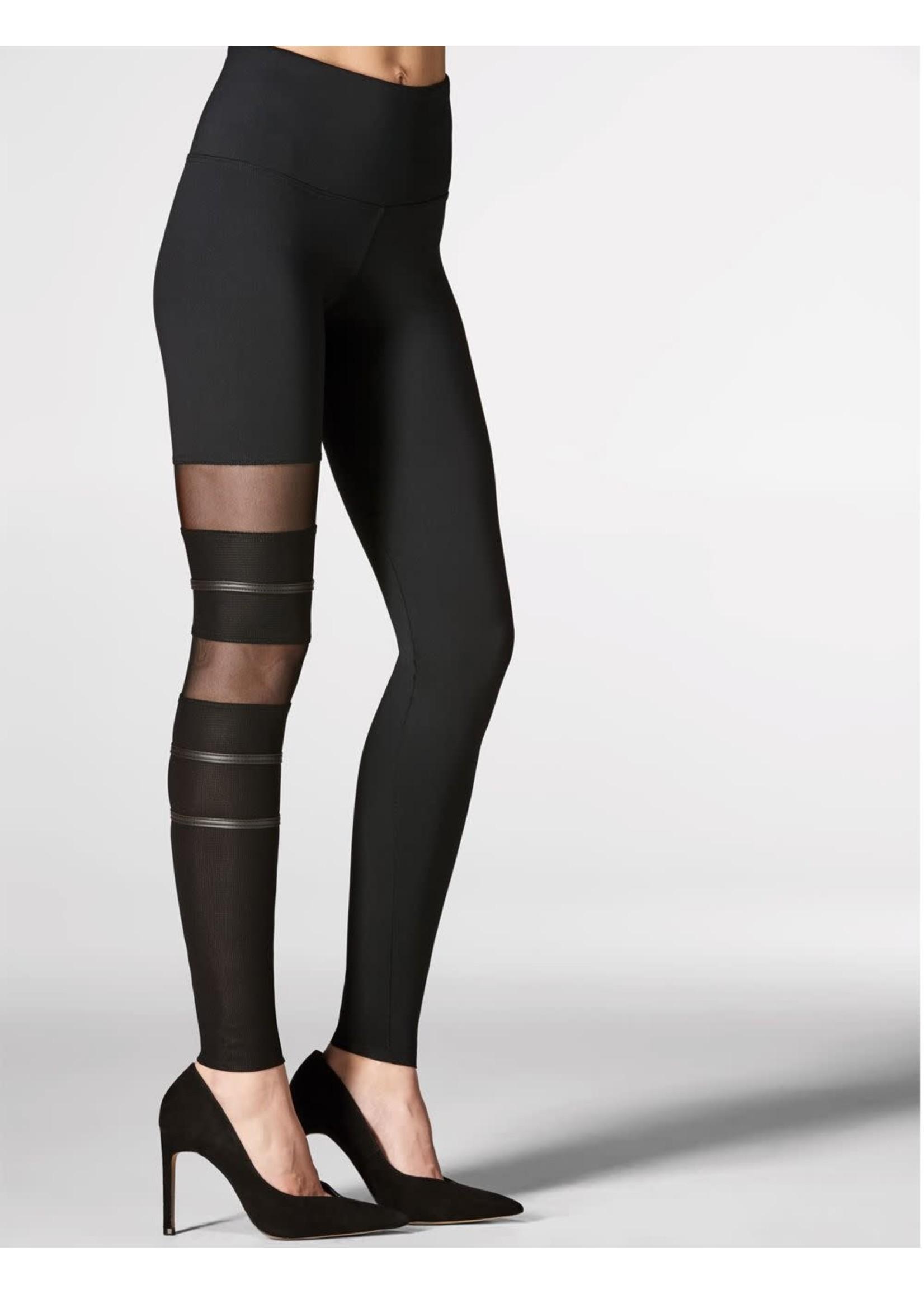 Mondor  Legging avec insertion de résille sur une jambe - Mondor 5667