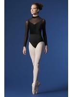 Mirella Maillot manches longue filet et velours avec zip au dos - Mirella