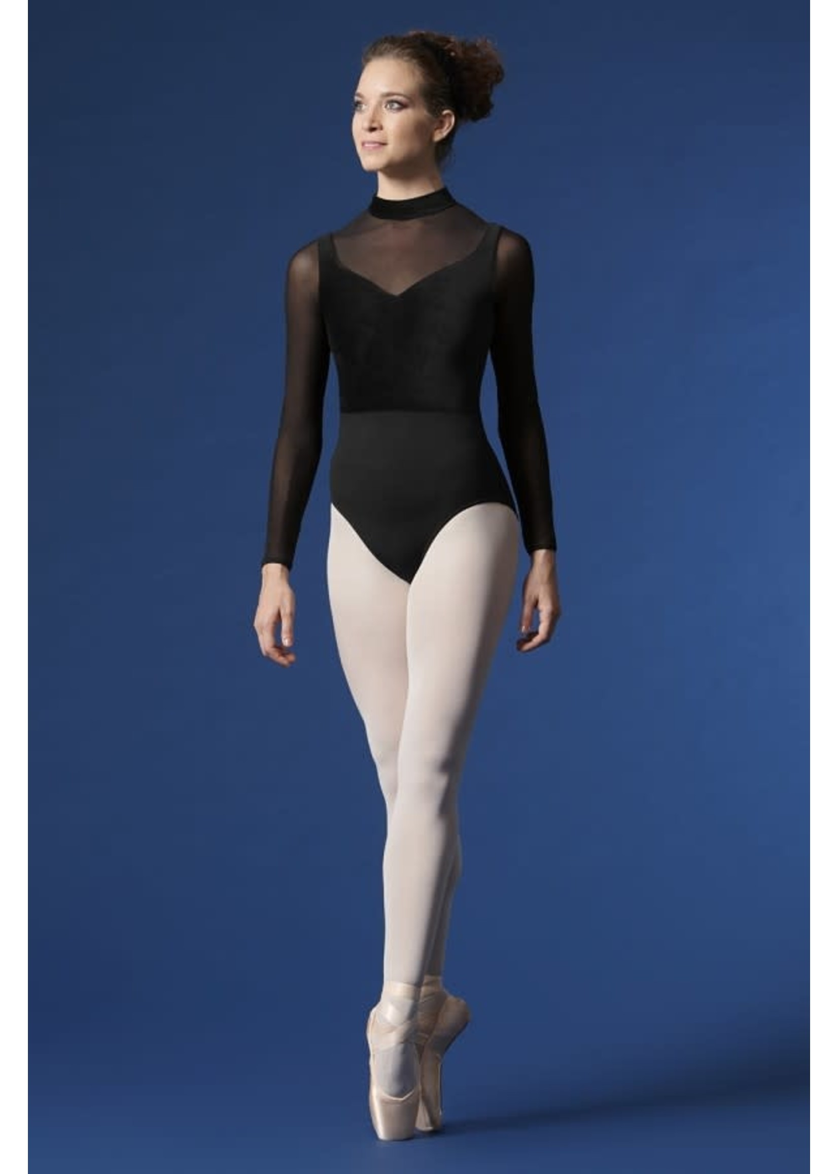 Mirella Maillot manches longue filet et velours avec zip au dos - Mirella - M1015LM
