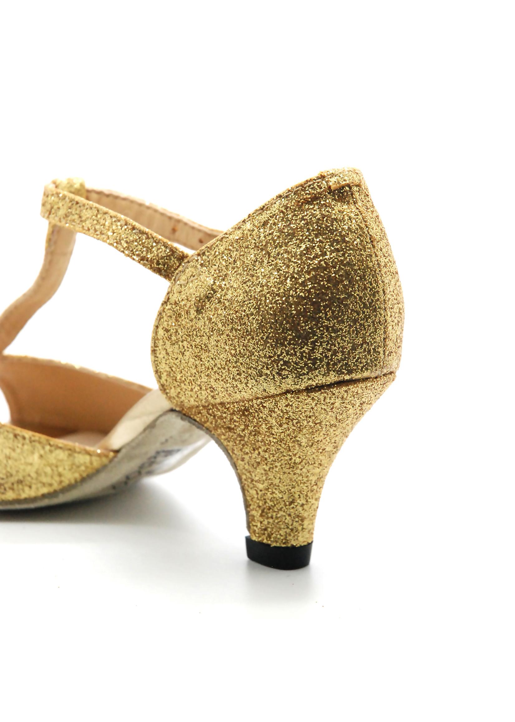 So Dança Chaussure de danse sociale pour fille - Or - BL05