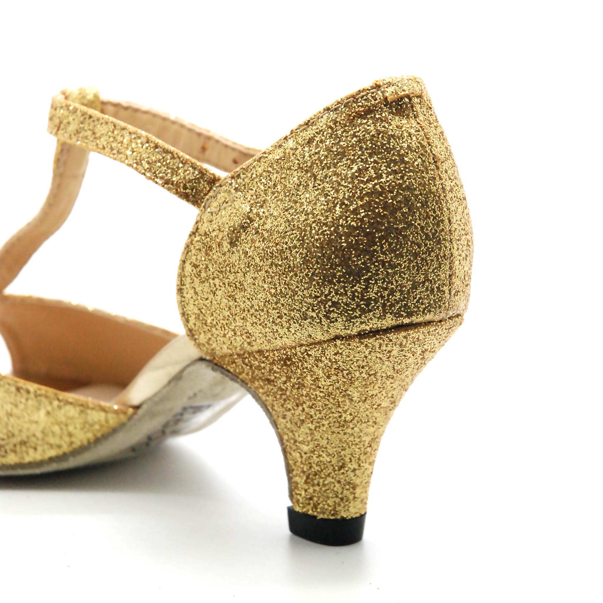 So Dança Chaussure de danse sociale pour fille - Or - BL05 - Pointure 2.5