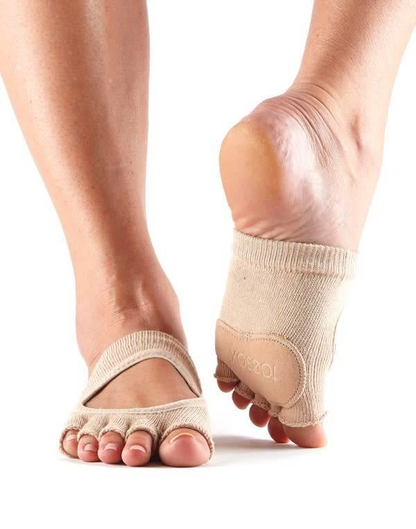ToeSox Protège-plante de pied en coton - Relevé
