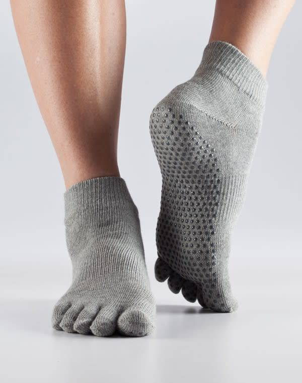 ToeSox ToeSox Full Toe Grip Ankle - Bas antidéparant avec orteils