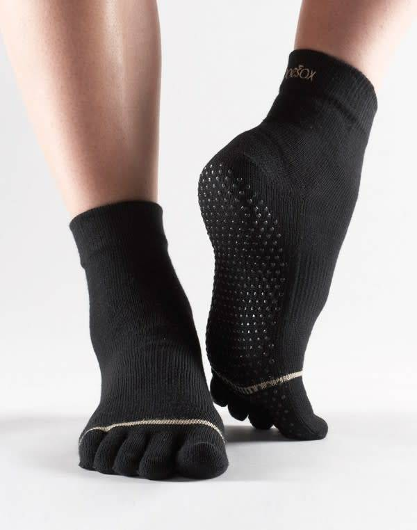 ToeSox Bas antidéparant avec orteils - ToeSox Full Toe Grip Ankle