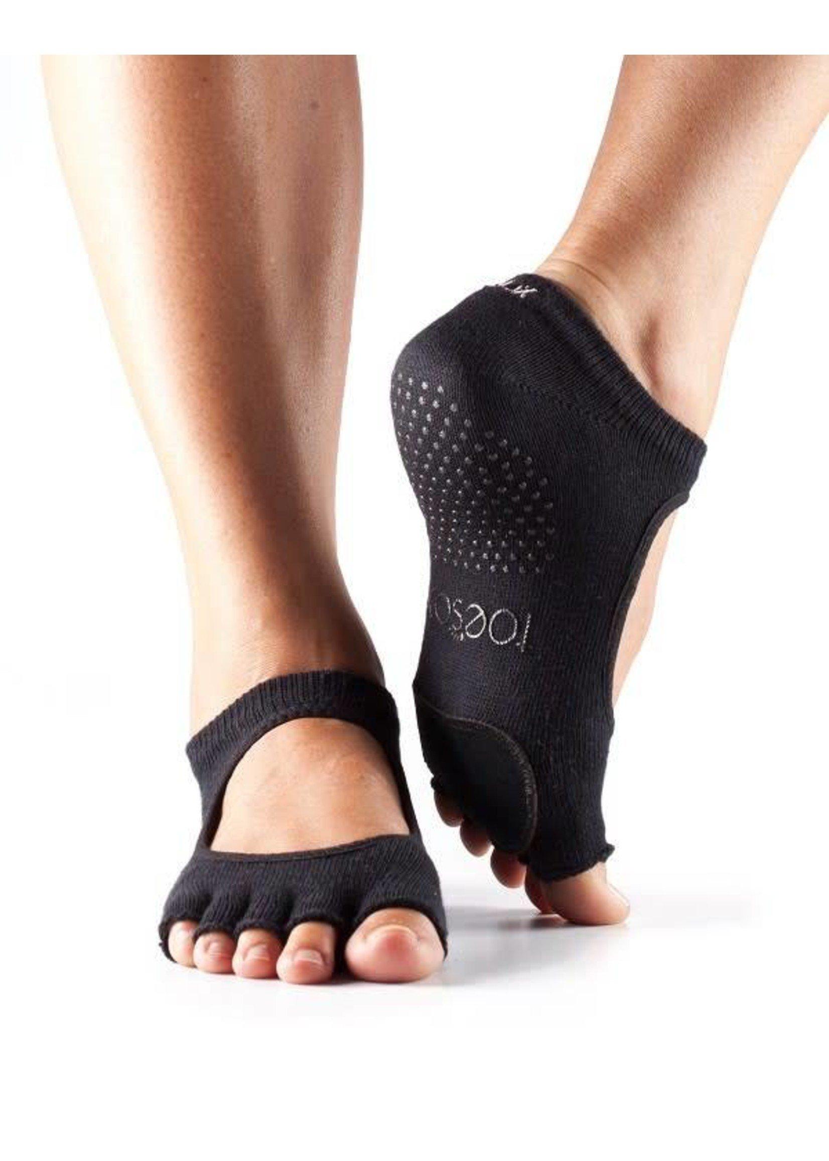 ToeSox Bas sans orteils avec pièce de cuir - ToeSox Plié Barre