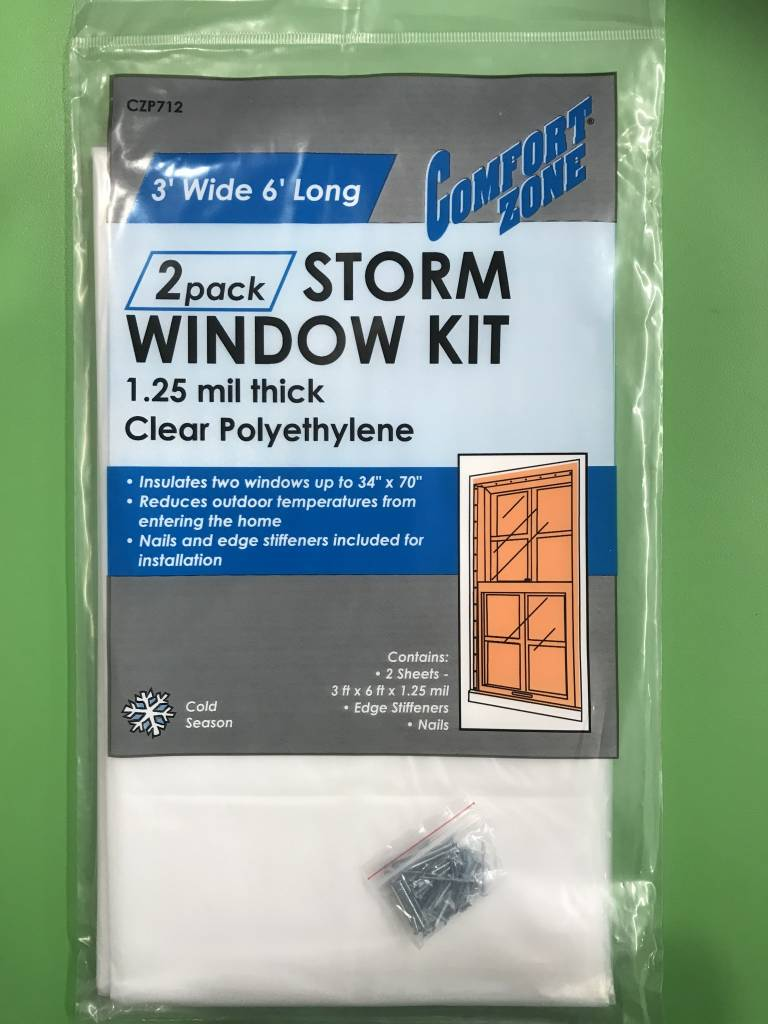 COMFORT ZONE Storm Window Kit 2 pack