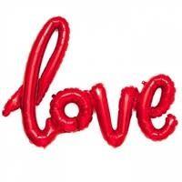 40' SCRIPT LOVE -RED
