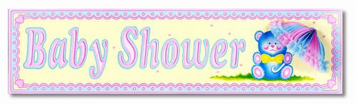 Baby Shower Sign with Tissue Parasol