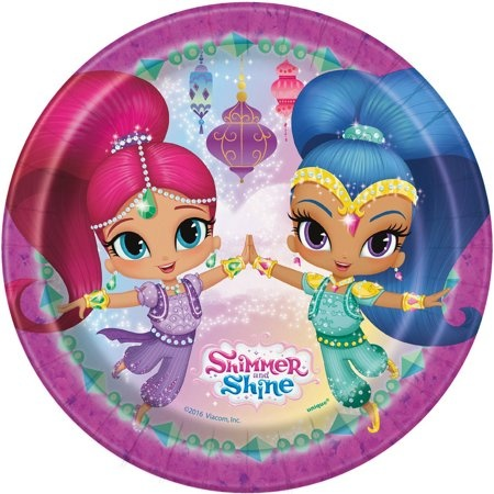 """Unique 8 Shimmer and Shine 7"""" Plate"""