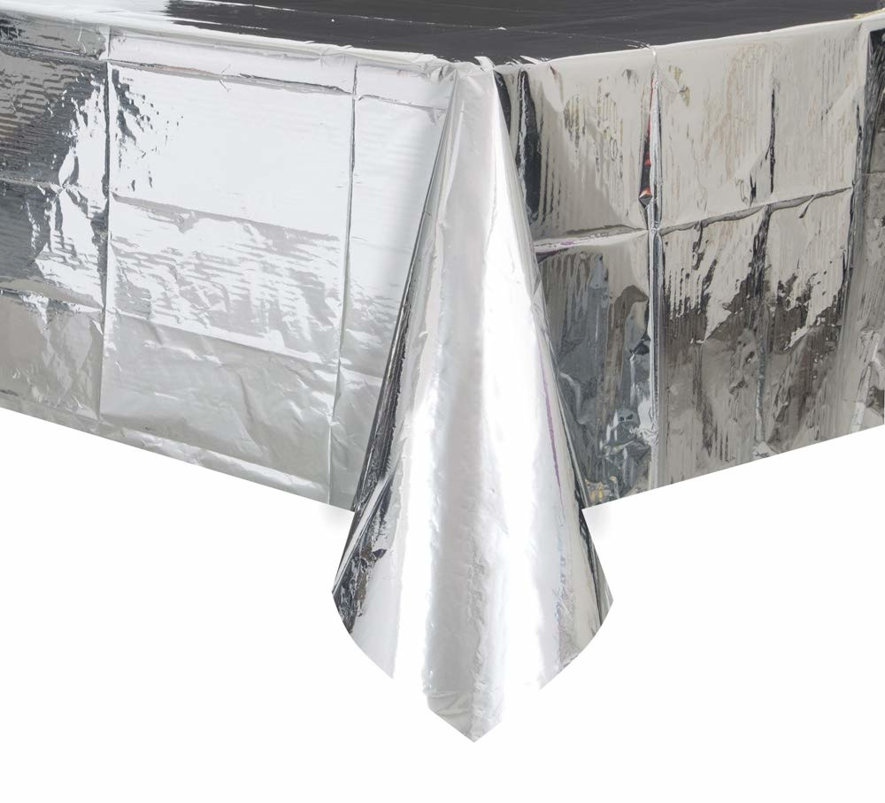 Unique Silver Foil Tablecover