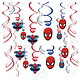 Unique 3 Spiderman Hanging Swirl Decorations
