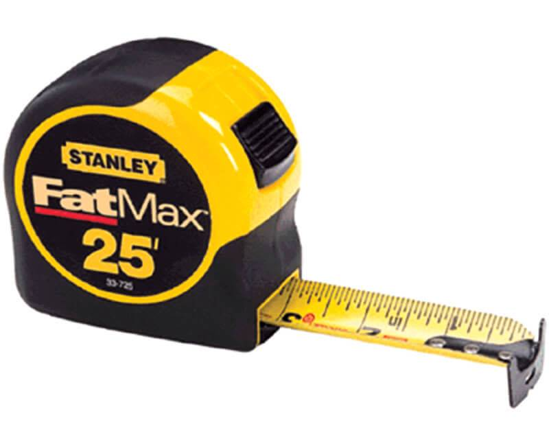 "THE STANLEY WORKS FAT MAX TAPE RULE 1 1/4"" X 25"