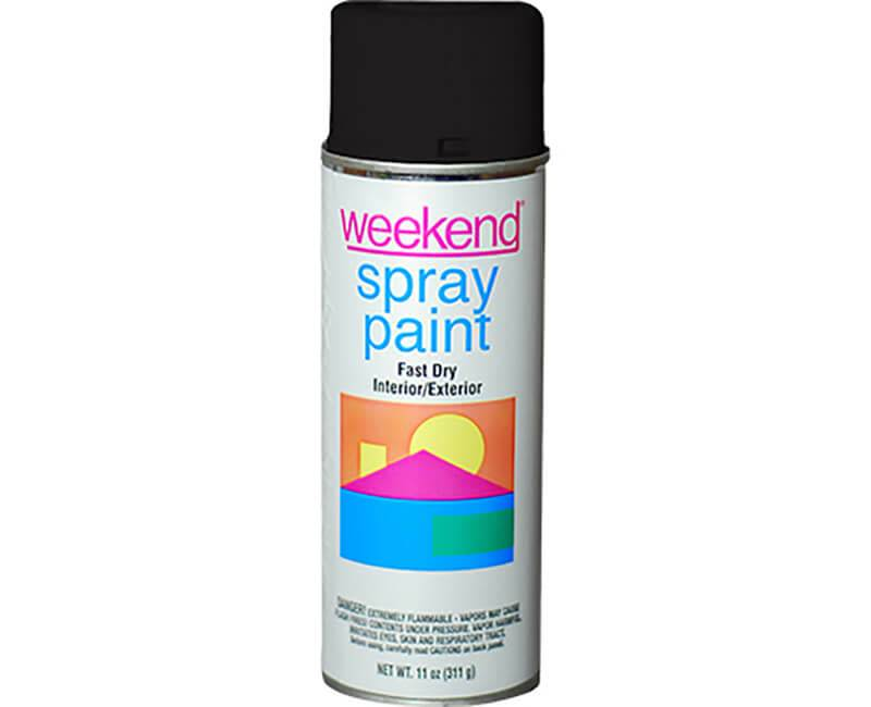 DIVERSIFIED BRANDS/KRYLON Krylon Weekend Flat Black Spray Paint