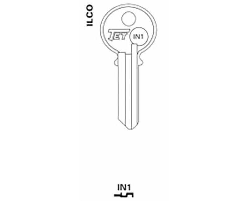 JET HARDWARE MFG JET 32172 IN1 ILCO KEY B LANKS - EACH