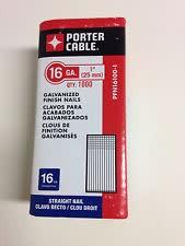 """Porter Cable 16 GA Finish Nail 1"""" Long (1000 Pk)"""