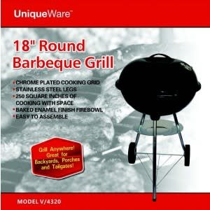 """Unique Ware BBQ Round Grill 18"""""""
