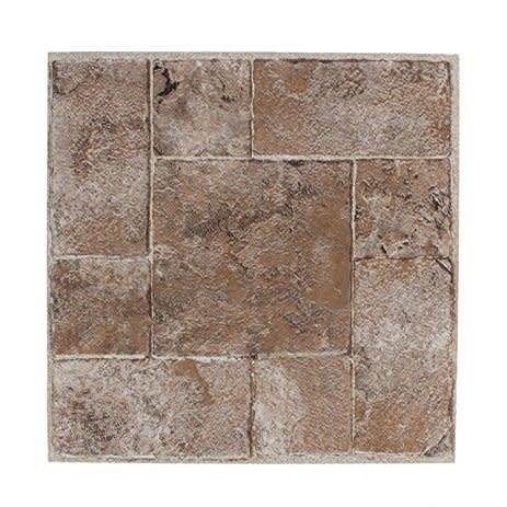 Riviera Earth Washed Stone Vinyl Self Adhesive Tile 45Pk