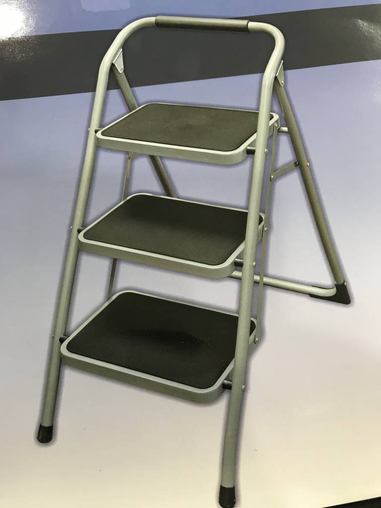 Helping Hand 3- Step Stool with Foam Grip Handle