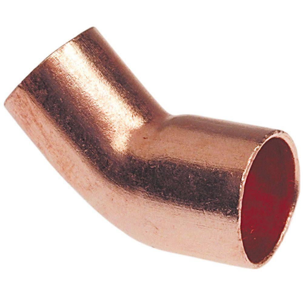 """JW Solder Copper Fittings 3/4"""" Copper Street 45 Elbow"""