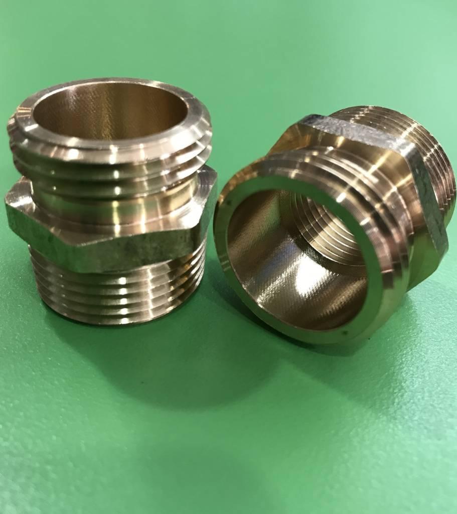 AQUA PLUMB H-4 Brass Hose 1/2FP x 3/4MP x 3/4MH