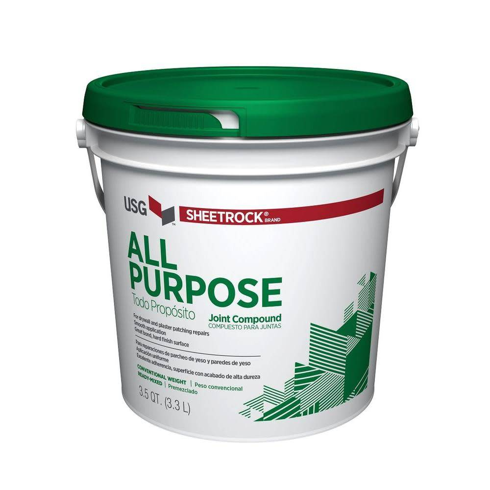 USG INDUSTRIES ALL PURPOSE JOINT COMPUOND GREEN TOP 3.5 QT.