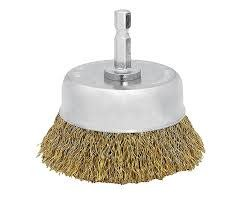 """TUFF STUFF CUP BRUSH 2"""" COURSE WITH 1/4"""" HEX SHANK CARDED"""