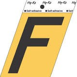 "HY-KO GOLD LETTER F 3 1/2"""