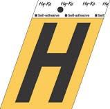 "HY-KO GOLD LETTER H 3 1/2"""