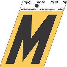"HY-KO GOLD LETTER M 3 1/2"""