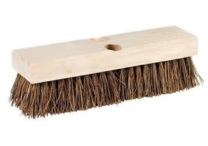 "DQB INDUSTRIES HEAVY DUTY PUSH BROOM 18"" TRIM-HEAD ONLY"