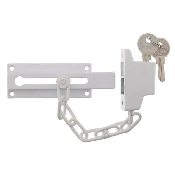 ULTRA LOCK KEY CHAIN DOOR GUARD WHITE