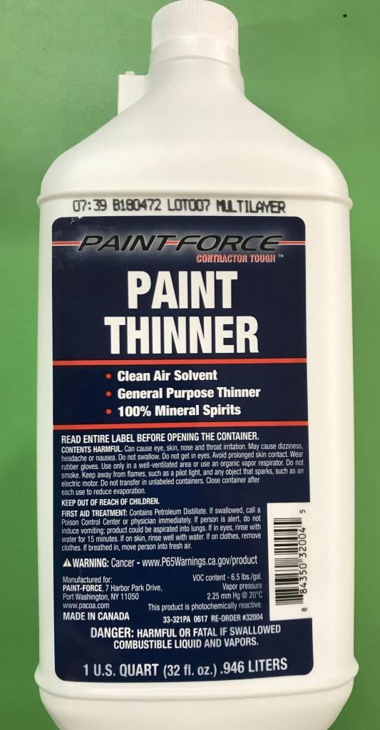 PAINT FORCE PAINT THINNER 1QT