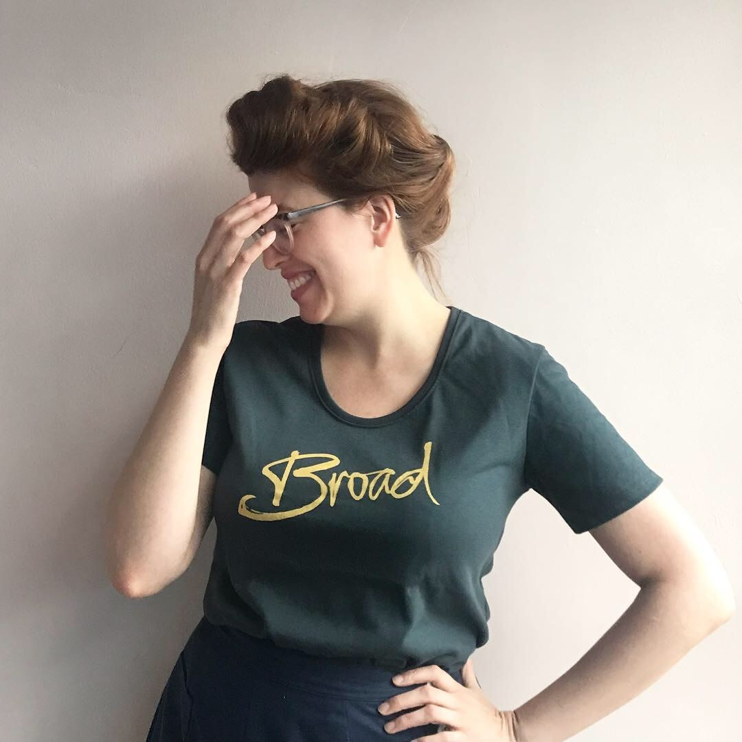 Broad Broad Logo T-Shirt Charcoal