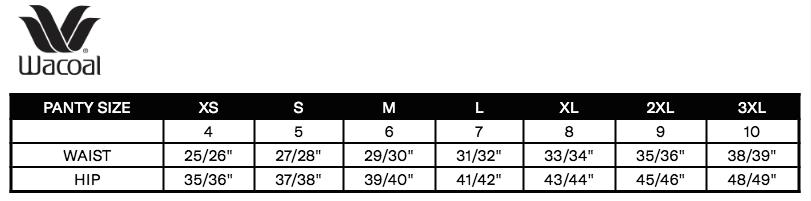 Wacoal size chart