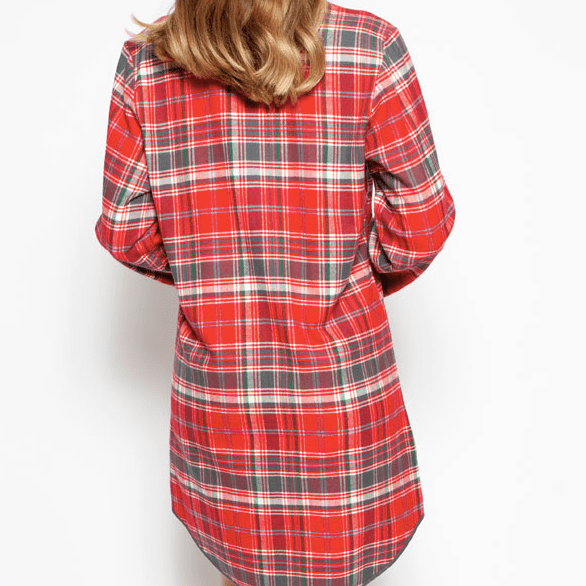 Cyberjammies Belle Plaid Nightshirt C-4256 Red