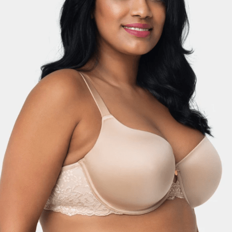 Curvy Couture Lace Shine T-shirt Bra 1102 Bombshell (Discontinued)
