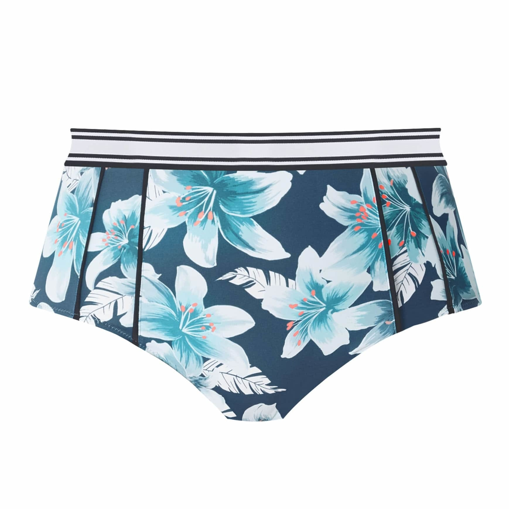 Elomi Island Lily High Leg Brief ES7224 Petrol