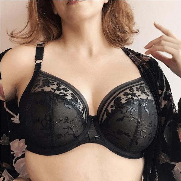 Elomi Roxanne Plunge EL4460 Black