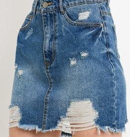 Get Your Way Skirt- Medium Wash