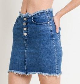 Hit The Road Skirt- Medium Wash