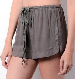 Happy Daze Shorts- Olive
