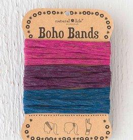 Boho Bands Navy Red Eggplant