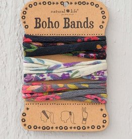 Boho Bands Blooms Black Cream