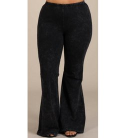Nine To Five Bell Bottom Pants- Black