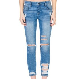 Never Wanted More Jeans- Medium Blue