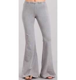 Nine To Five Bell Bottom Pants- Silver